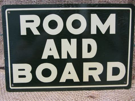 how to pay for room and board vintage metal room and board sign antique by antiquesfromtheshed