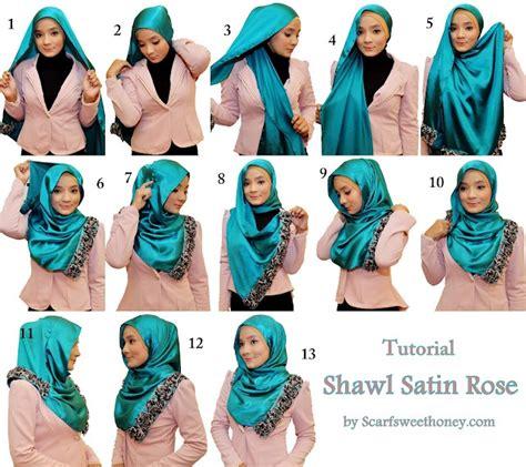 tutorial hijab turban satin hijab tutorial i think i might try hijab pinterest