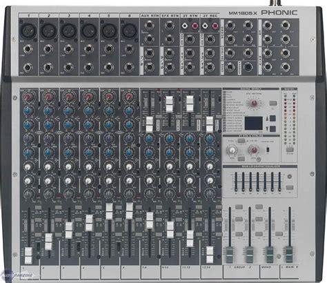 user reviews phonic mm1805x audiofanzine