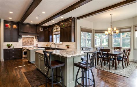 double kitchen islands transitional kitchen studio m denver kitchen remodel features butlers pantry 2 islands