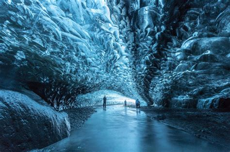 the crystal cave iceland icelands ice caves and underground glacier caught on