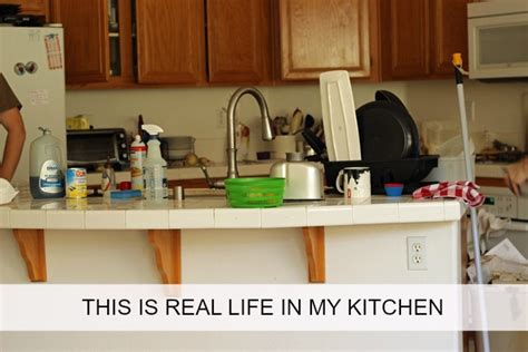 this is real life in my kitchen keeping the kitchen clean