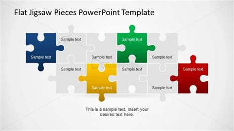 editable jigsaw pieces powerpoint puzzle slidemodel
