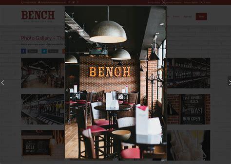 the bench restaurant restaurant website design for innovative new winebar in ramsgate