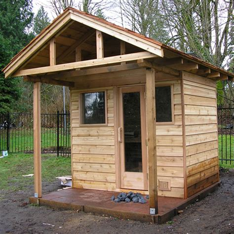 outdoor sauna kit heater accessories porch roof