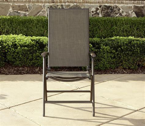 La Z Boy Outdoor Alex High Back Sling Folding Chair High Chair Patio Furniture
