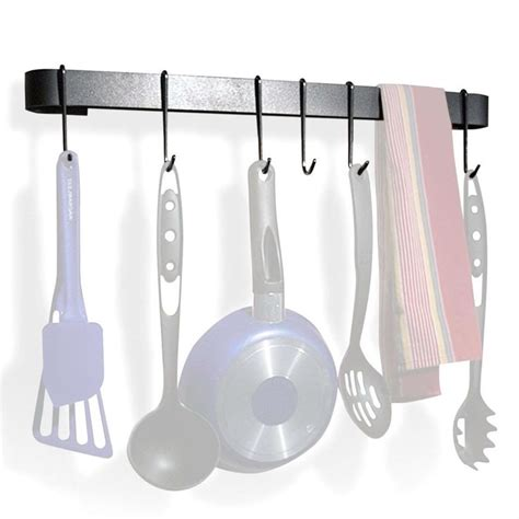 Wall Mounted Pot Racks For Kitchen Wall Mounted Kitchen Pot Rack With 8 Hooks Drywall