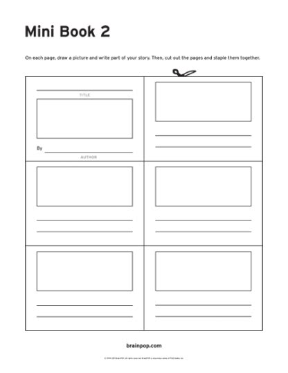 mini book template mini book template 2 brainpop educators