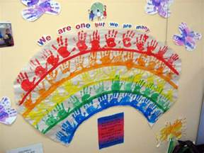 multicultural activity ideas handprint rainbow lesson