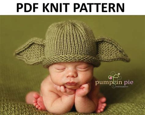 knit yoda hat pattern yoda hat pattern knit nature patterns and etsy shop