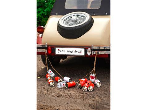 Hochzeit Dekomaterial by Hochzeitauto Schild Quot Just Married Quot F 252 R Kennzeichenhalter