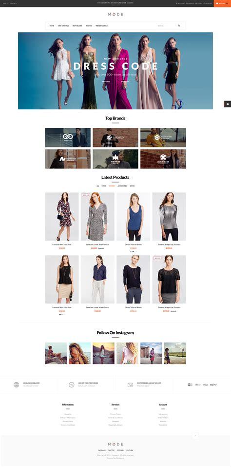 opencart themes clothing pav mode modern fashion opencart theme themes templates