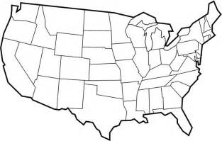 us map fill in states a blank usa map with states