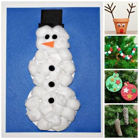 fun and easy christmas crafts for kids kids preschool
