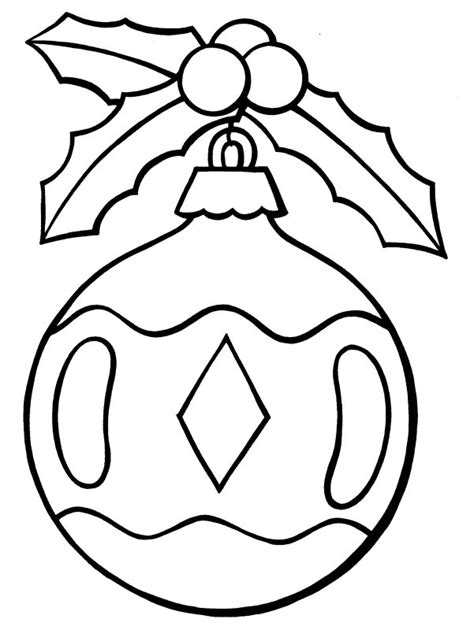christmas ornament tree to color free ornament coloring pages az coloring pages