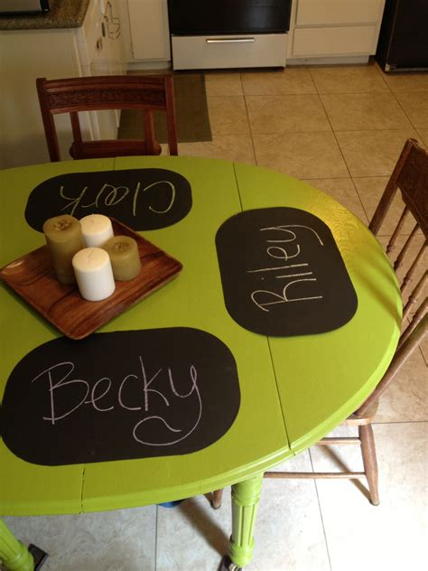 chalk paint on plastic chalkboard paint on plastic placemats did stuff