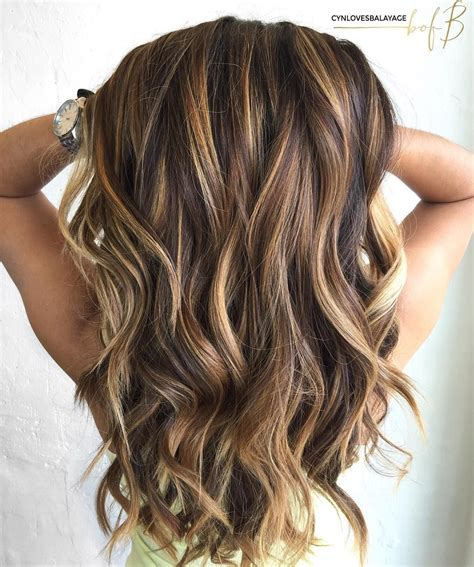 hair colors highlights for 56 year old woman with mid length hair 60 looks with caramel highlights on brown and dark brown
