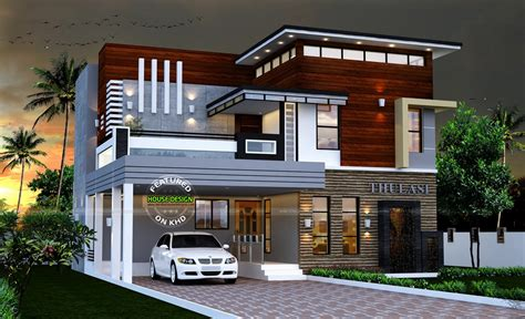 Marvelous contemporary house 2165 sq ft modern contemporary house home design ebizby design