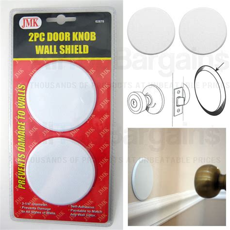 Door Knob Wall Shield by 2pc Door Knob Wall Shield White Self Adhesive
