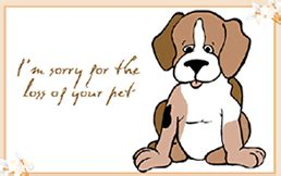 template for pet sympathy card printable brown puppy i m sorry for the loss of your pet