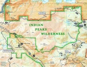 indian peaks wilderness map colorado s areas