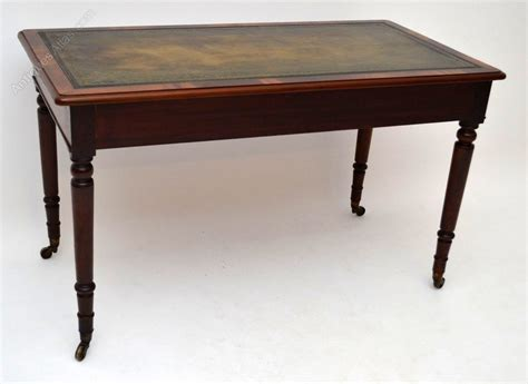 leather top writing desk antique mahogany leather top writing desk antiques