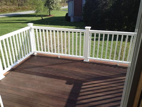 deck railing sections composite deck railing installation