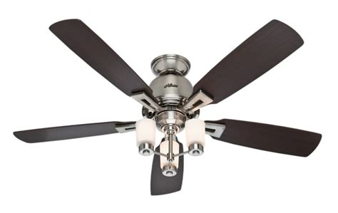 hunter fan support number 52 quot brushed nickel chrome ceiling fan altitude 59015