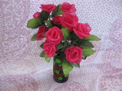 cloth crafts for himaja s crafts organdy cloth flower vase