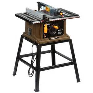 portable table saw home depot rockwell 13 10 in table saw with leg stand rk7240 1