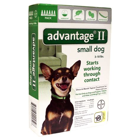 advantage for dogs 10 lbs advantage ii for dogs up to 10 lbs 6 month suppy pet supplies supplies flea