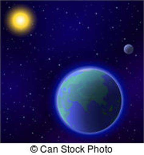 ilustraciones de vectores de sol tierra luna espacio globo sol luna concepto ahorro imagen global