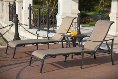 Patio Furniture Mountain View by Patio Furniture Cast Aluminum Sling Chaise Lounge