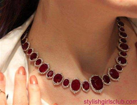 Ruby Jewelry by Silver Ruby Necklace Designs 2016 Stylish Club