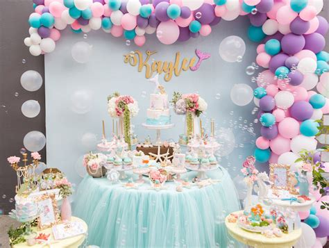 Blue Color Palette by Kara S Party Ideas Pastel Mermaid Birthday Party Kara S