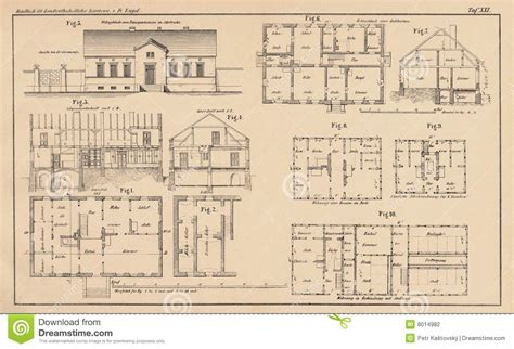 Dymaxion House Floor Plan by 142 Years Old Technical Drawing Stock Photography Image