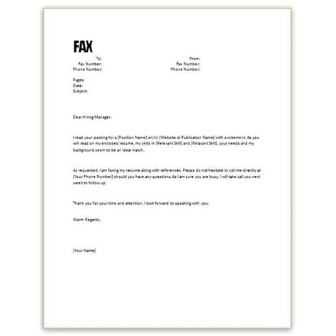 resume cover letter template resume cover