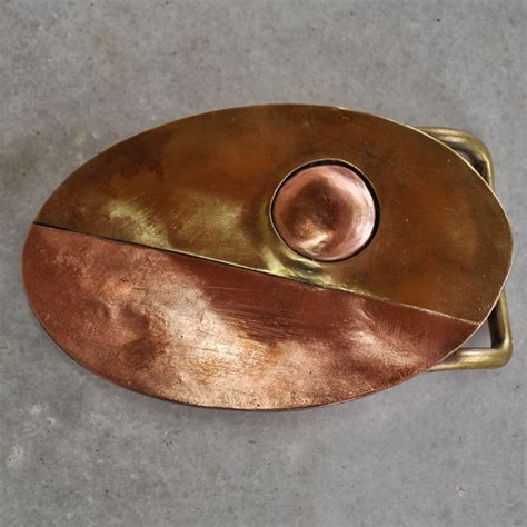 Handmade Belts And Buckles - brass and copper belt buckle handmade