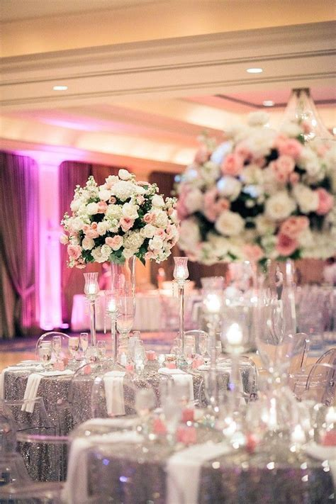 Houston Wedding: Silver And Pink Glamour   Wedding