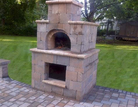 The Terpstra Family Wood Fired Brick Pizza Oven Tower In Backyard Brick Oven Plans