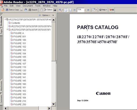 reset canon ir2870 canon ir2270 ir2870 ir3570 ir4570 parts catalog
