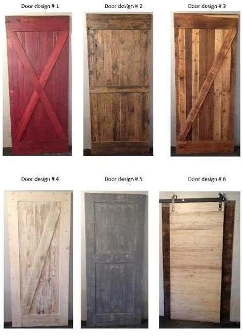 Barn Door Designs New Barn Wood Door Designs From Prairie Barnwood For Home Design Bob E Sale