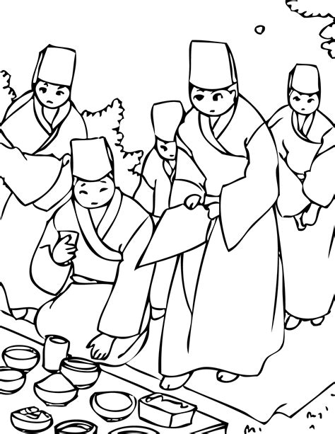 coloring book korea hansik coloring page handipoints