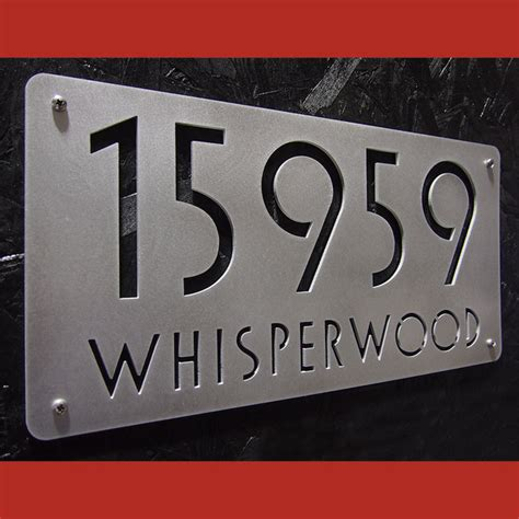 Address Directory Address Plaques Modern House Numbers Indianapolis By Moda Industria