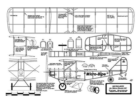 free rc plans micro bipe plans download rc microflight by don srull