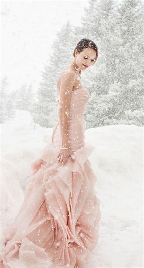 casual wedding dress pink winter wedding dresses