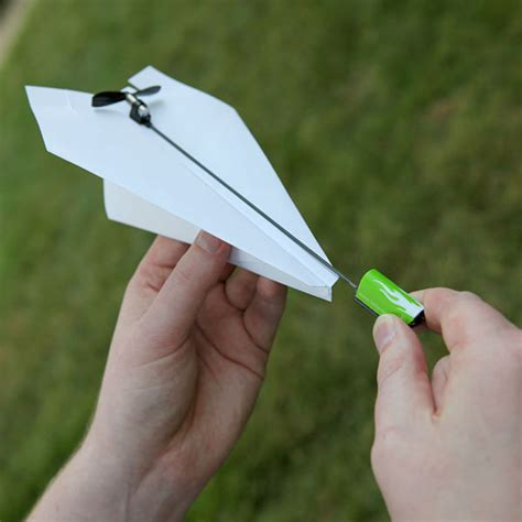How To Make A Motorized Paper Airplane - powerup electric paper airplane conversion kit the