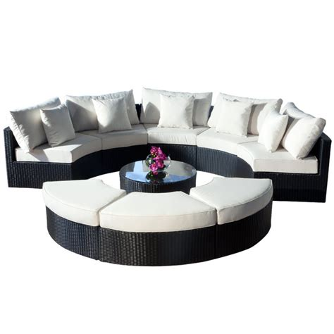 rounded couches arrangement modern living room interior design with round