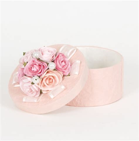 shabby chic pink hat box boxes