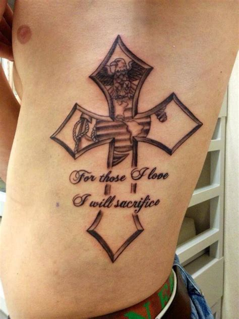 marine corps tattoo really wanting this saying with the ega above it